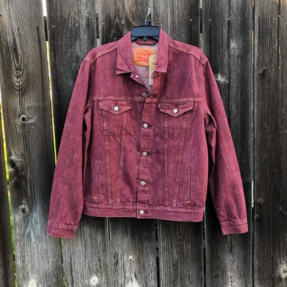 Levi's Red Denim Trucker Jacket Men's